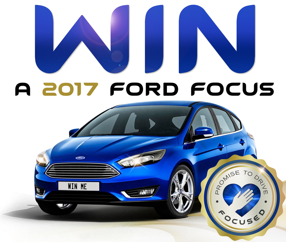 Promise to drive focused and you could win a 2017 Ford® Focus.